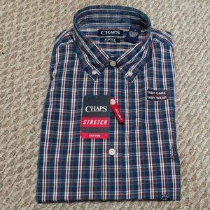 Chaps Mens Stretch Long Sleeve Shirt Size M